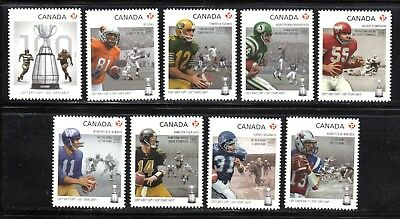 2012 Canada SC# 2568i-2567i - 100th Grey Cup Game - die cut from booklet M-NH