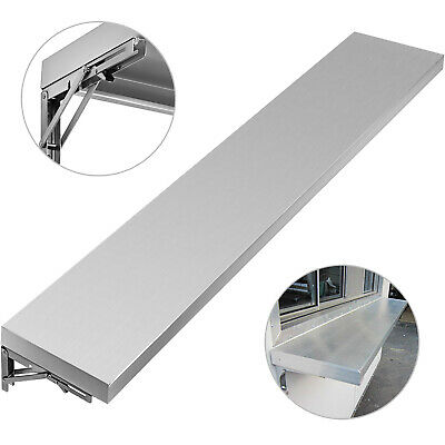 """6 Foot Shelf for Concession Window Removable 1.89""""H with/ 2 Folding Brackets"""