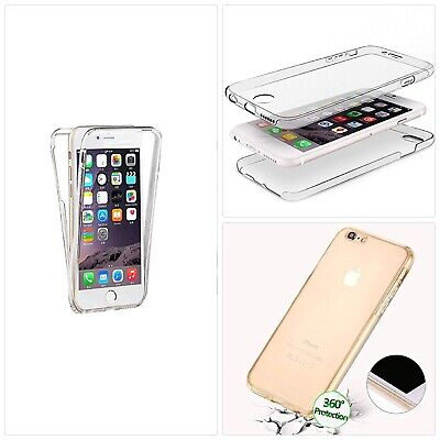 LCHDA Custodia 360 iPhone 7 8 Full Body Fronte Retro Transparente Silicone Cover