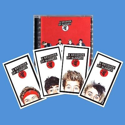 +4 BONUS TRACKS----> 5 SECONDS OF SUMMER Deluxe 5SOS CD with CARDS and RED COVER