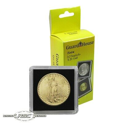 10 - Guardhouse 2x2 Tetra Plastic Snaplocks Coin Holders for $20 Gold Coins