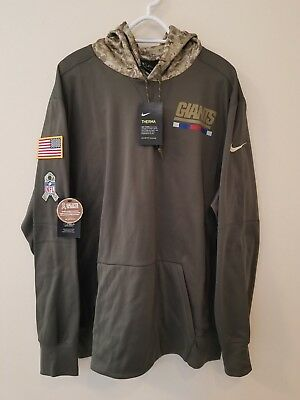 NEW YORK GIANTS Nike 2017 NFL Salute to Service Sideline Therma Hoodie XL 1a7748d9f