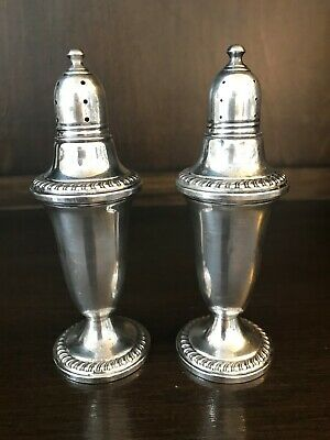 Empire Sterling Silver Weighted #39 Salt & Pepper Shakers Set