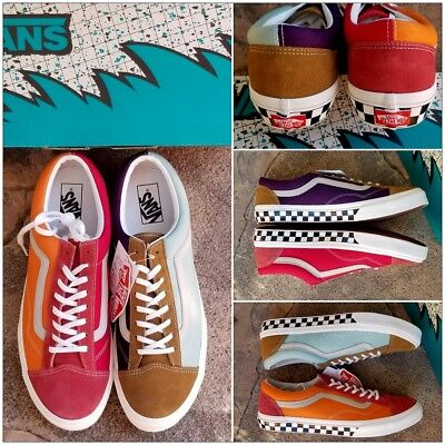b9a4b56cb9a8 Vans Style 36 Multi Colored Checkers Japan Old Skool Release Men s 12 New