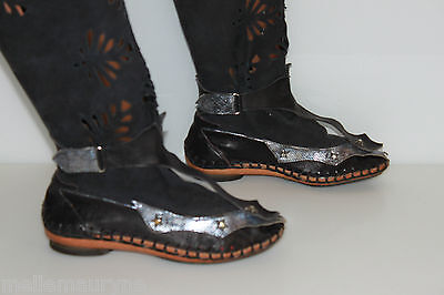 EL VAQUERO Mid Boots All Leather Tulle netting Model Very Original T 36