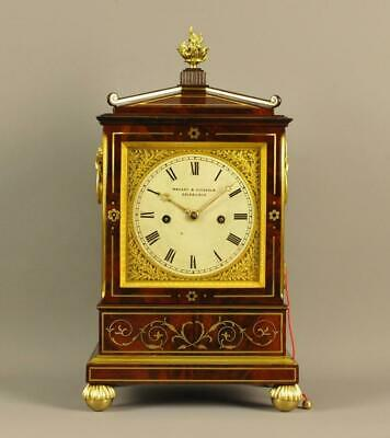 REGENCY INLAID BRACKET MANTLE CLOCK - Howden , Edinburgh