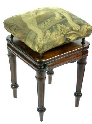 Antique Victorian Rosewood Tapestry Adjustable Dressing table Stool [PL4957]