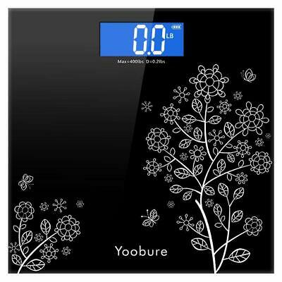 Etekcity 400lb/180kg LCD Digital Bathroom Body Weight Scale Tempered Glass New