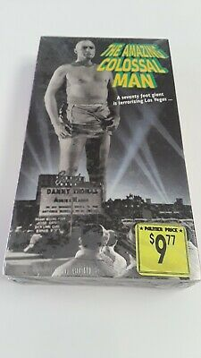 The Amazing Colossal Man [VHS] (1957), New,  Factory sealed Free Ship