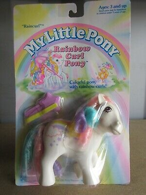 2797333fdbbb Vtg My Little Pony Raincurl Rainbow Curl Nrfp Nos G1 Boxed Sealed Lg  Collection