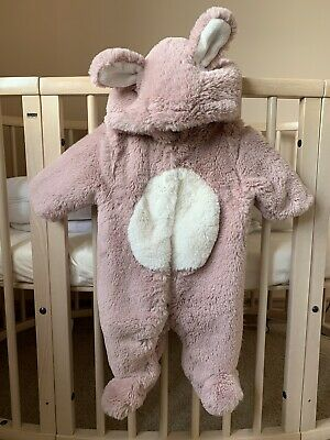 Baby girl 0-3 months Bunny Overall Bodysuit Jacket Next