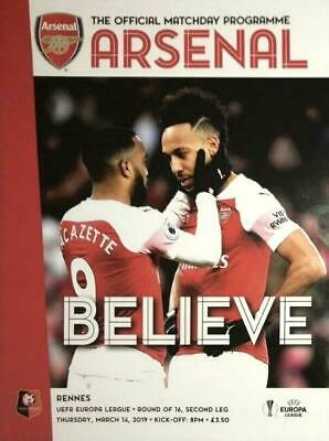 * 2018/19 - ARSENAL v RENNES (EUROPA LEAGUE - 14th March 2019) *