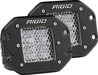 "Rigid Industries 212513 D-Series Pro Diffused Light 3x 3"" Cube Set of 2"