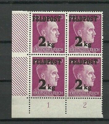 Germany 1944 Third Reich WWII FELDPOST FIELD POST HITLER 2 kg ovpt. MNH OG #2