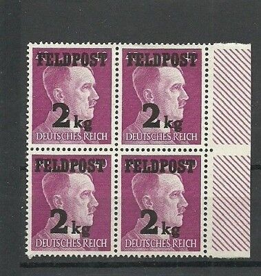 Germany 1944 Third Reich WWII FELDPOST FIELD POST HITLER 2 kg overprint MNH OG