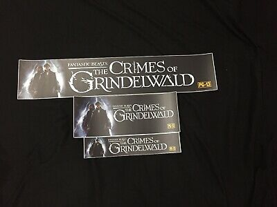 Fantastic Beasts The Crimes Of Grindelwald - Movie Theatre Mylar Lot Of 3