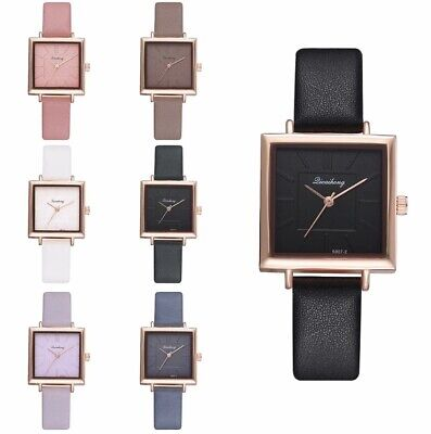 Ladies Women Girl Analog Quartz Wrist Watches Fashion Leather Strap