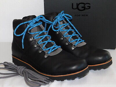 b7acbf0b2d6 NEW MENS SIZE 10 Charcoal Grey Ugg Hafstein 1017730 Leather Waterproof Boots