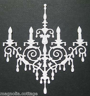 CHOICE of COLOUR  4 x CHANDELIERS, Die Cuts, Embellishments ...