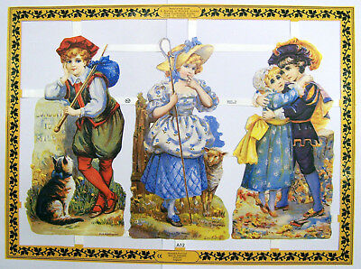 Mamelok Golden Victorian Scraps - A12 - Nursery Rhyme and Tales (Double Size).