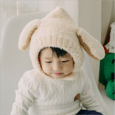 Cute Ear Baby Kids Toddler Girls Boys Warm Hat Winter Beanie Hats Plush Cap B