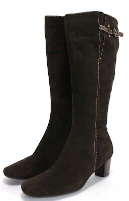 95f8e2ef638 ECCO Women s  140 Knee-High Boots Size EU 39 US 8.5 Zip Up Leather Brown