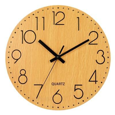 """LENRUS 12"""" Wooden Wall Clock, Arabic Numeral Design Rustic Country Tuscan..."""