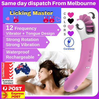 12 Speed Rotation Oral Sex Tongue Licking Clitoris Vibrator Sex Toys for women