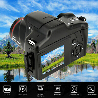 SLR Camera 16X Zoom 16MP 1080P 2.4 Inch 115* 48* 50mm TFT Screen Anti-shake PAL