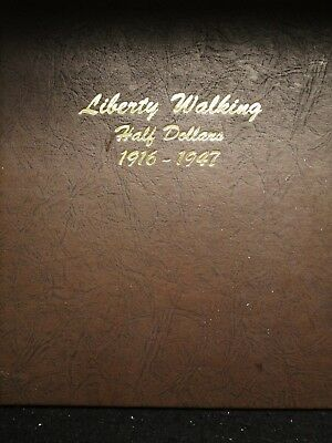 1916-1947 PDS WALKER SET COMPLETE G - AU ~ Walking Liberty 50C Album Book Set