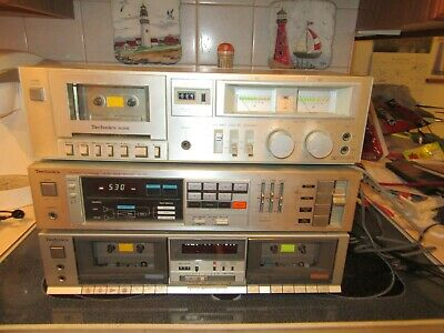 Vintage Technics Receiver and Tape Decks