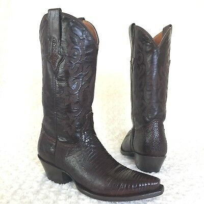 2e0d65fd790 RESISTOL RANCH LUCCHESE Brown Python Black Leather Brown Cream Black ...