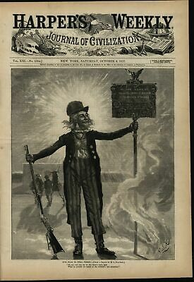 Uncle Sam Riflery Competition Patriotism 1877 brilliant cover periodical art