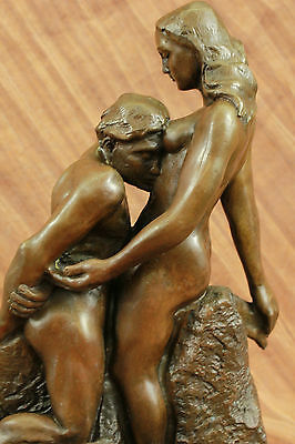 Large Signed Eternal Idol by French Sculptor Rodin Bronze Sculpture Erotic Art