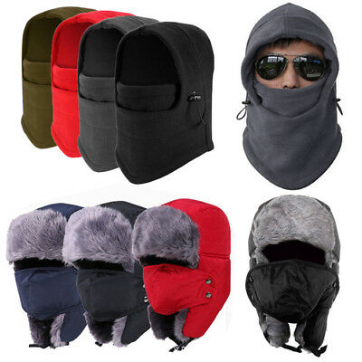 Men Woman Winter Warm Fleece Balaclava Hat Snow Ski Neck Face Mask Hood Cap