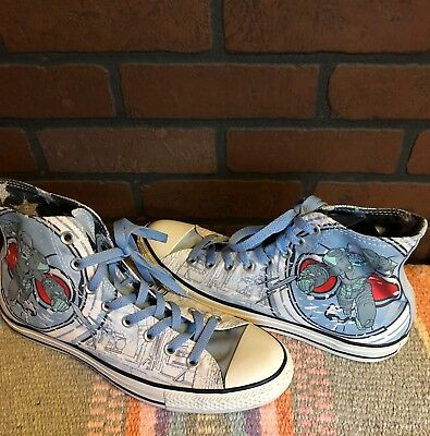 c1a8d11b2ec Converse All Stars DC Comics Mr. Freeze Batman Hitop Chuck Taylor SZ 9M 11W