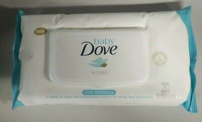 6- Pack Baby Dove Rich Moisture Hand and Face Wipes 30 Count Each