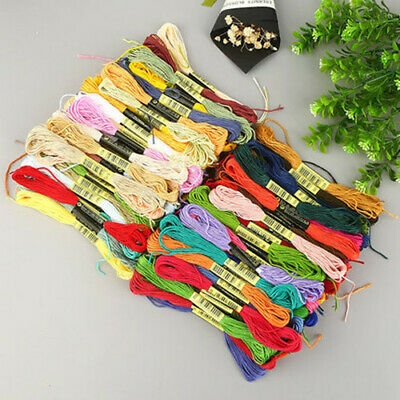 100PCS MultiColor DIY Cotton Cross Floss Stitch Thread Embroidery Sewing Skeins