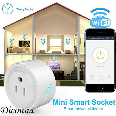 Smart Power Socket Wifi Wireless Mini Switch Remote Control Timer Outlet Plug
