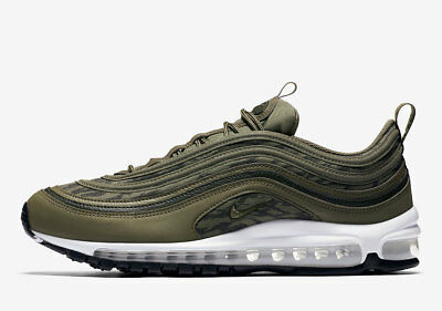 eb7be3965ae Nike Air Max 97 AOP Tiger Camo Green Olive Sequoia Black AQ4132-200 Size  10.5