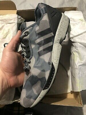 bcbb7f55b87e2 New Adidas ZX Flux Decon Camo Mens M19685 Onix Grey Black Running Shoes Sz  11.5