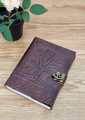 Handmade Leather Journal - Tree of Life (Antique) Large Size 18cm X25cm