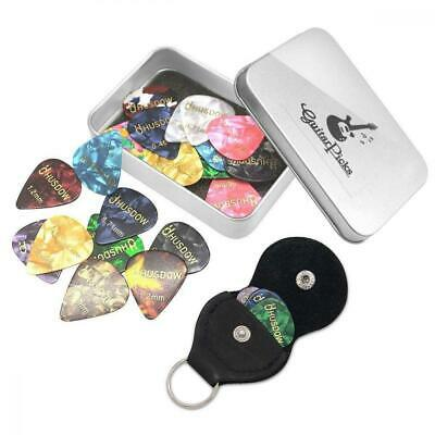 20pcs Guitar Picks with Pick Holder, HusDow Plectrums Celluloid for...