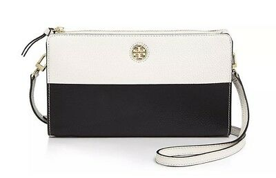 d121304f700c  450 TORY BURCH Color Block Perry Leather Tote Bag Pale Apricot ...