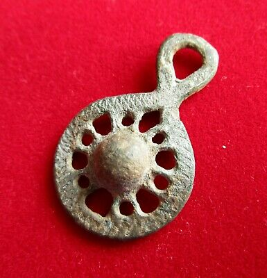 Ancient Roman silver plated amulet / pendant