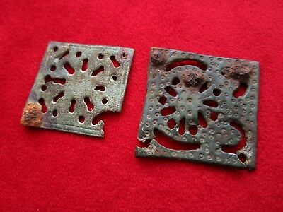 Ancient Roman Patrician bronze plate belt decoration .  Beautiful .