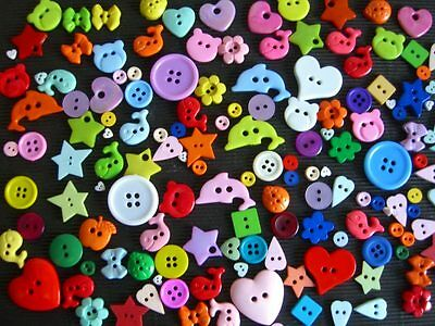45grams SCRAPBOOKING / CRAFT novelty BUTTONS B02  Mixed shapes & colours
