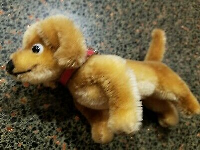 Steiff dog dachsund  stuffed animal miniature w mohair  Germany