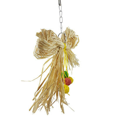 Colorful Ball Pet Parrot Bird Toy Grass Silk Pull Bite Chew Durable Grass Toy