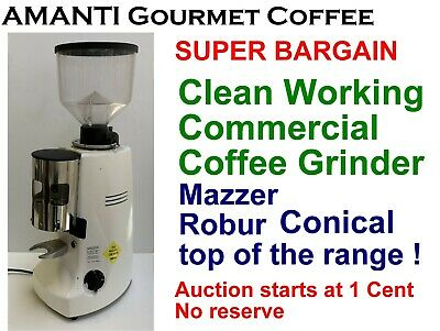 BARGAIN Clean Working Mazzer CONICAL Commercial Robur Coffee Grinder + AMANTI